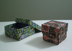 DIY Project: Origami Box with Lid | The Budget Savvy Bride