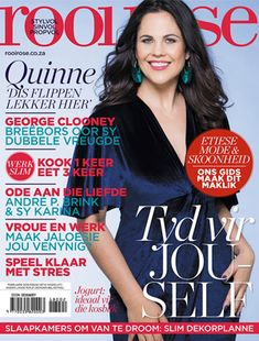 rooi-rose-Februarie-2018 Beautiful Cover, George Clooney, Beautiful People, Slim, Digital, Magazine Covers, Rose, Products, Pink