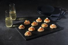 These elegant hors d'oeuvres are delicious on their own, or topped with Sour Cream and garnishes. Rare Roast Beef, Dinner Party Appetizers, Smoked Trout, Coffee Cookies, Hors D'oeuvres, Keto Cookies, Bon Appetit, Sour Cream, Cookie Recipes