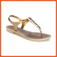 3cc7d861f4f4 Grendha Women s Jewel Sandal (Gold) (7 US Women s) - Sandals for women