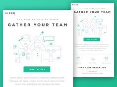 Gather Your Team Email by Kyle Anthony Miller #Design Popular #Dribbble #shots