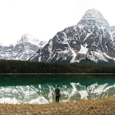 waterfowl lakes. mt chephren & white pyramid. icefields parkway. alberta. - Processed with VSCO with s2 preset
