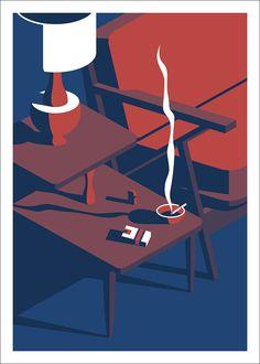 The Simple Life: une exposition de Jeremy Booth Illustration Design Graphique, Illustration Art Nouveau, Art Graphique, Flat Illustration, Digital Illustration, Art Pop, Design Pop Art, Graphisches Design, Creation Art