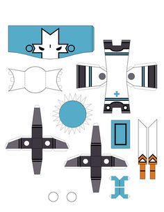 Castle Crashers Blue Knight paper craft