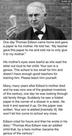 Salute to Edison's mother! - 9GAG