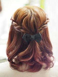 簡単お嬢様アレンジ☆ミディアムヘアのツイストハーフのアイデアを集めました♡ Easy Hairstyles, Wedding Hairstyles, Hair Arrange, Short Wedding Hair, About Hair, Hair Highlights, Fine Hair, Gorgeous Hair, Hair Hacks