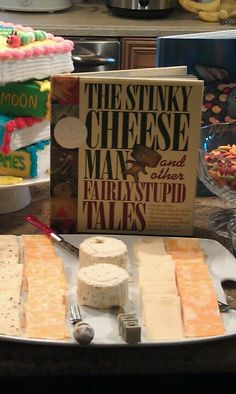 book themed baby shower! lol i think this is one of my faves. love the cheese idea