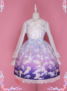 2 Colors Lolita Kawaii Cloudy Pattern JFK LK17020604 · lolita store · Online Store Powered by Storenvy