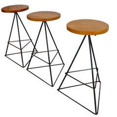 Luther Conover Counter Height Barstools (3)