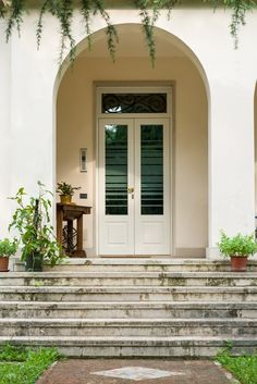 Security Glass Door with Strong Glass Transom
