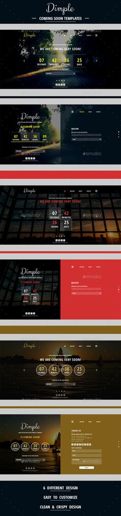Dimple Coming Soon Template - 404 Pages Web Elements