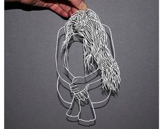 Original Papercut Art - Paper Art - Papercut Woman - Woman Papercutting - Female Art - Hand-Cut Paper Art - Papercut