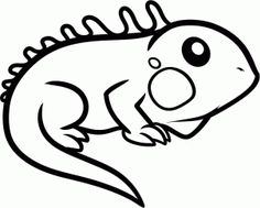 how to draw an iguana for kids animals for kids - Drawing Images For Kids