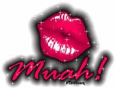kiss kissing kissed kisses muah lips glitter
