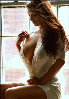 Jordan Carver sitting seductively by a window wearing only a very thin white robe Hot Girls, Sexy Women, Sexiest Women, Femmes Les Plus Sexy, Gorgeous Women, Hello Gorgeous, Gorgeous Hair, Redheads, Perfect Curves