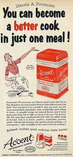 Vintage Accent (with MSG) ad 1950s