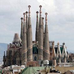 Sagrada Familia is a large Roman Catholic church in Barcelona, Catalonia, Spain.