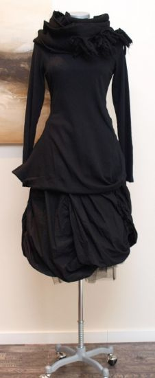 rundholz black label - Shirtbluse Zipfel Filz black -Winter 2013