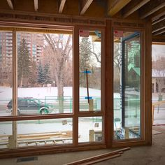 Progress at our Roxboro Riverside House. Rough-Ins continue and the beautiful new high performance Loewen Windows are being installed. Incredible skyline and river views from the interior spaces.  #alloyhomes #yyc #calgary #customhomes #yycarchitecture #yycdesign #yychomes #capturecalgary #roxboro #roxboroyyc #elbowriver #cdnbuilt #yycarch #yycdesigns #windows