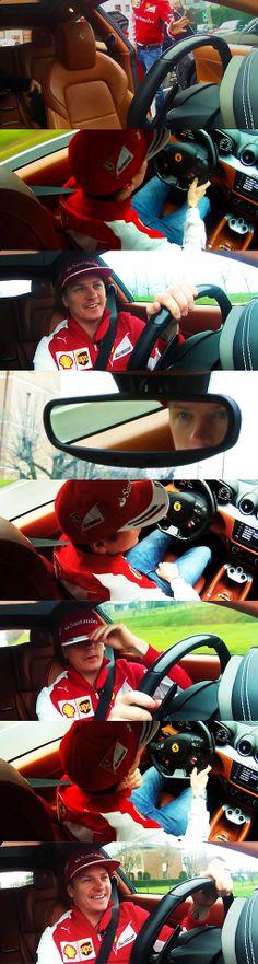 Kimi and the FF Ferrari Maranello!
