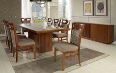 A Sala de Jantar Campeche possui as cadeiras Campeche fixas e estofadas com o conforto que você merece! A mesa de jantar é retangular com tampo de madeira e base fresada. O balcão Genipabu possui duas gavetas internas e um detalhe fresado lindo em uma das portas. Produtos disponíveis em vários acabamentos e tecidos, conforme nosso mostruário. Medidas: mesa: 2,00 x 0,78 x 1,00 m. Cadeira: 0,48 x 1,00 x 0,51 m. Balcão: 1,80 x 0,81 x 0,39 m. http://www.moradamoveis.com/
