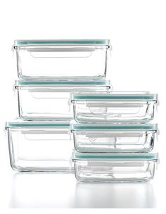 Glass storage containers. These are what I use to pack my lunches and for left overs. Even though most plastic containers are BPA free, glass is still better all around.
