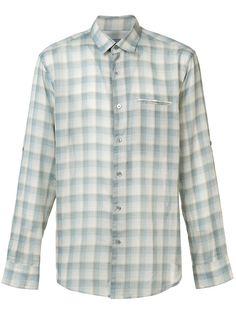 JOHN VARVATOS . #johnvarvatos #cloth #方格衬衫 Secret Meeting, John Varvatos, Check Shirt, Mens Fashion, Shirt Dress, Cotton, Mens Tops, Blue, Shirts