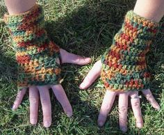 Under the Sun: The Easiest Fingerless Glove Crochet Pattern Ever