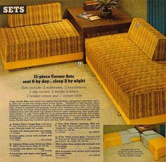 I had this when I was a young teenager, maybe up to age 15 or 16.. Mine had storage on the table for the linens and stuff. But I just left them alone and slept on top of the bed in a sleeping bag. ;-) Oh for the days of brown plaid being an okay thing to do...