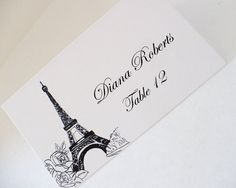 Paris Roses Place Cards Escort Cards for by AZCreativeStudio Seating Plan Wedding, Wedding Reception, Seating Plans, Wedding Table, Rustic Window Frame, Chalkboard Table Numbers, Classroom Seating Arrangements, Romantic Quotes, Romantic Ideas