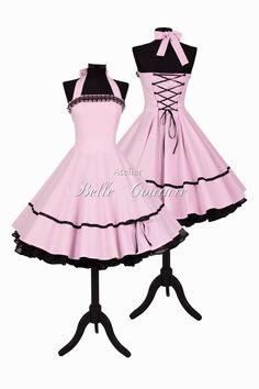 Entdecke lässige und festliche Kleider: Petticoat Kleid Abiball Jugendweihe Brautjungfer made by Atelier Belle Couture 50er Jahre Petticoatkleider Rockabilly Kleider via DaWanda.com