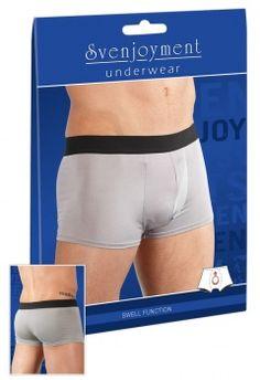 Šedé pánske boxerky  s vnútorným elastickým vrecúškom vytvárajúcim push-up efekt. http://www.sexshop.sk/detail/18148/2132079-9711-panske-push-up-boxerky/