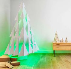 Green LED Christmas Tree 8 Pared Down Christmas Decor Ideas for Minimalist Homes