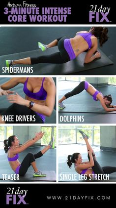 3 Minute Core Workout . 21 Day Fix .