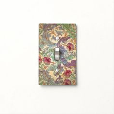 Art Nouveau Pink Flowers - Switch Plate