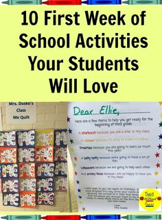 10 First Week of School Activities Your Students Will Love | Teach Without Tears