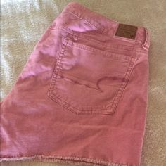 Pink corduroy shorts by American Eagle Pink corduroy AE shorts az 14 American Eagle Outfitters Shorts Jean Shorts