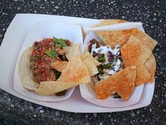 The short ribs and miso chicken tacos from  Takumi Taco were superb and incredibly tasty!