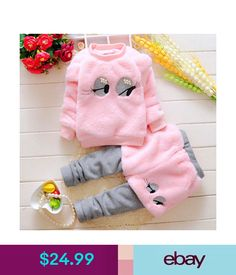 Girls' Clothing Toddler Kids Baby Girls Winter Warmth Clothes T-Shirt Tops+Pants Outfits Set Winter Outfits For Girls, Warm Outfits, Toddler Girl Outfits, Kids Outfits, Baby Girl Pants, Baby Girls, Infant Girls, Toddler Girls, Kids Girls