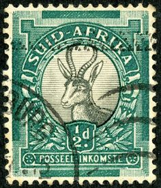 Union of South Africa  1936 Scott 45b (S.G. 54) ½d green & gray Perf 15×14; Photogravure; Hyphen