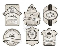 Illustration Set Retro Variation Vintage Labels (2) - Vector Royalty Free Stock Photo, Pictures, Images And Stock Photography. Image 9247457.