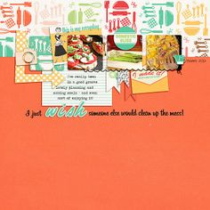 digital scrapbook layout created with Domesticated | Real Life in Pockets by Just Jaimee and Mommyish