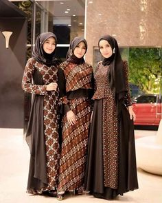 Dress Brokat, Kebaya Dress, Blouse Batik, Batik Dress, Muslim Women Fashion, Islamic Fashion, Batik Muslim, Dress Batik Kombinasi, Hijab Dress Party
