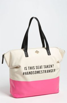 Adorable and funny.  That's what I'm looking for anyway....   kate spade new york 'call to action - terry' tote available at #Nordstrom