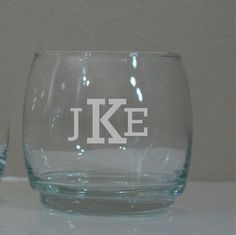 Personalized 8 oz  Whiskey Glasses - Perfect for Him - Birthdays, Bachelor Parties, Groomsmen Gifts 2/$17