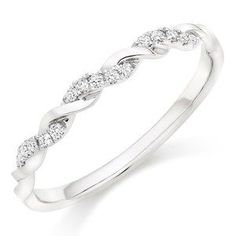 Platinum Diamond Twist Wedding Ring