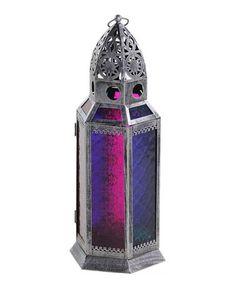 Loving this Blue & Pink Metal Lantern on #zulily! #zulilyfinds
