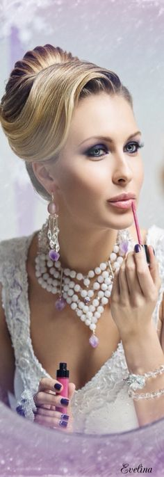 Lipstick and pearls♡♡♡♡♡.