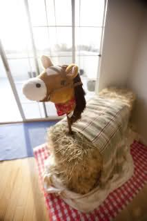 Must have hay horse for dramatic play center! Too cute!!!