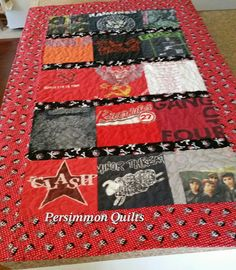 T-shirt quilt pieced by Nancy S.  www.persimmonquilts.com